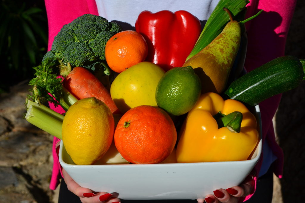 Bowl of fruit and vegetables at La Crisalida Retreats Spain